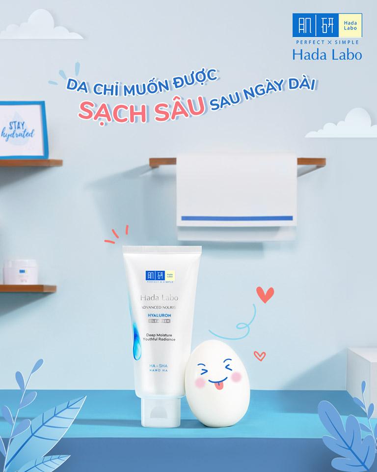 Kem Rửa Mặt Dưỡng Ẩm Cho Mọi Loại Da Hada Labo Advanced Nourish Cream Cleanser hiện đã có mặt tại Hasaki
