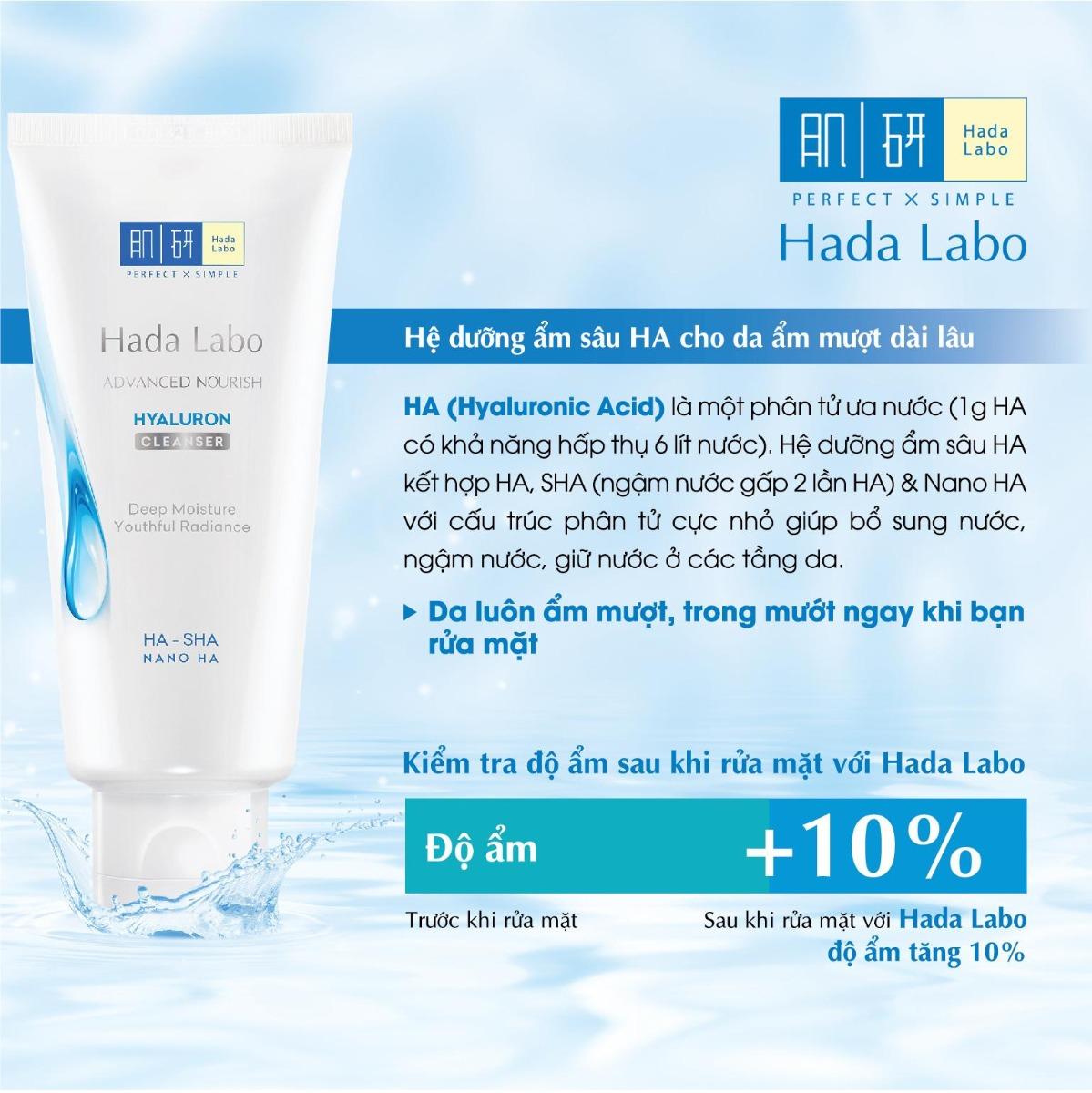 Kem Rửa Mặt Hada Labo Advanced Nourish Cream Cleanser dưỡng da ẩm mượt dài lâu