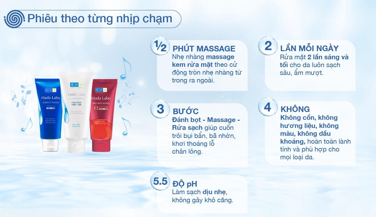 Kem Rửa Mặt Dưỡng Chuyên Biệt Ngừa Lão Hóa Hada Labo Pro Anti Aging α Lifting Cleanser