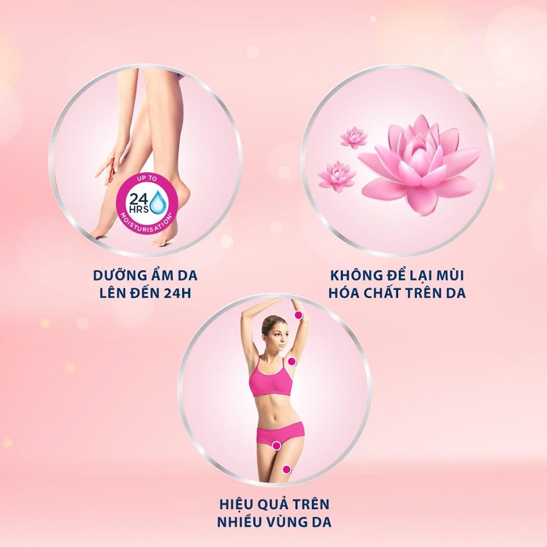 Kem Tẩy Lông Veet Silk & Fresh không để lại mùi hoá chất trên da