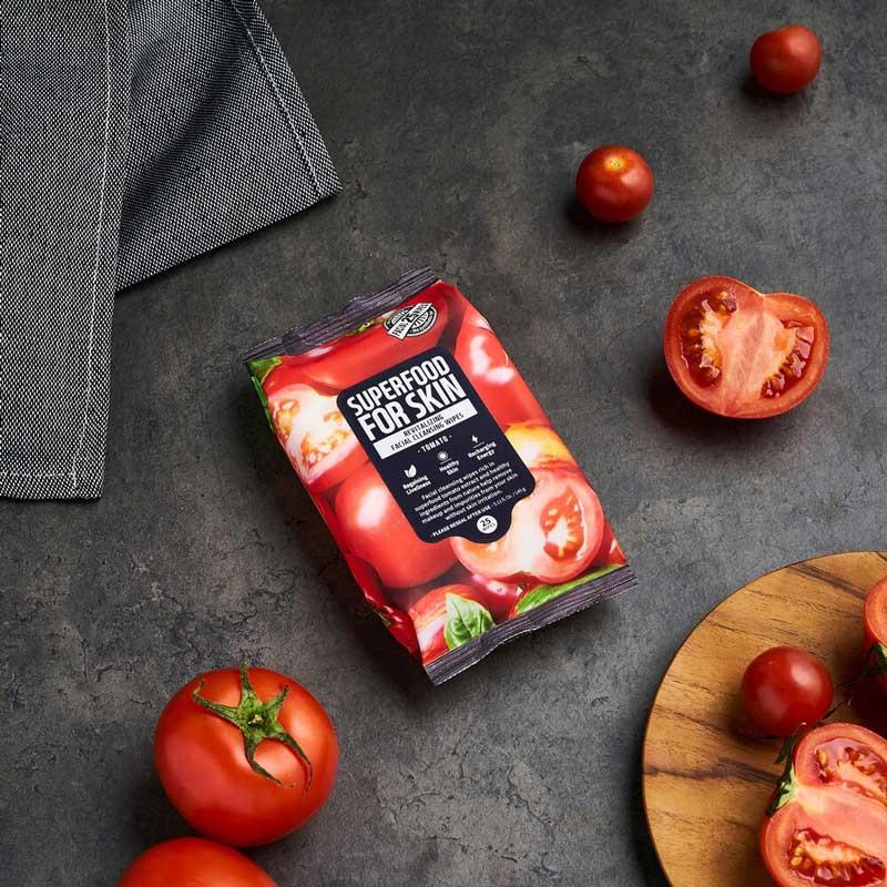 Khăn Ướt Tẩy Trang Farmskin Superfood For Skin Cleansing Wipes Tomato hiện đã có mặt tại Hasaki