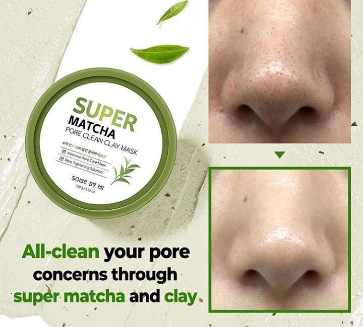 Mặt Nạ Đất Sét Some By Mi Super Matcha Pore Clean Clay Mask cải thiện tình trạng mụn đầu đen hiệu quả
