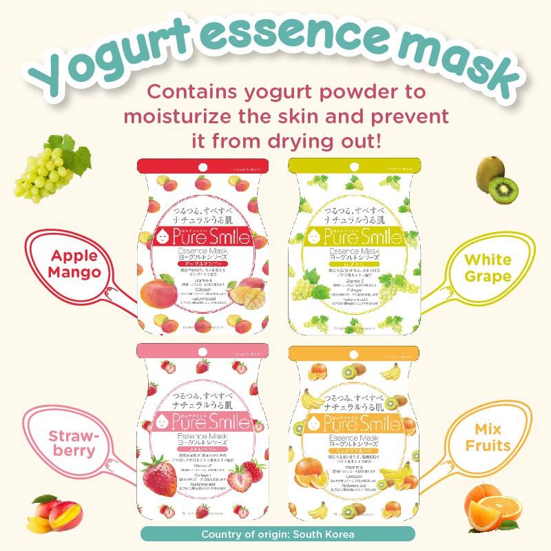 Mặt Nạ Dưỡng Da Pure Smile Essence Mask Yogurt Series Chiết Xuất Sữa Chua