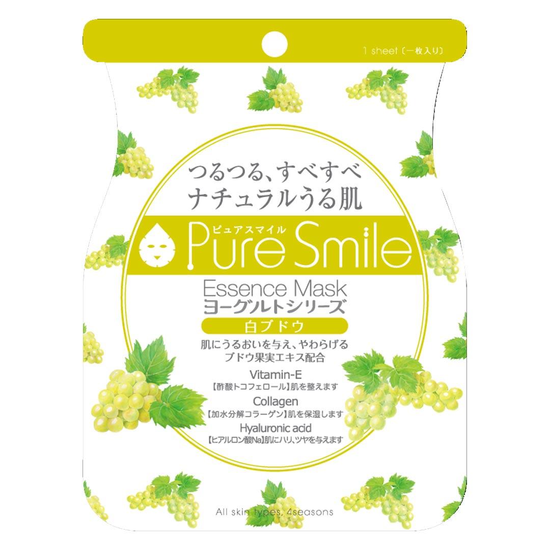 Mặt Nạ Dưỡng Da Chiết Xuất Nho Pure Smile Essence Mask Yogurt Series White Grape 23ml hiện đã có mặt tại Hasaki.