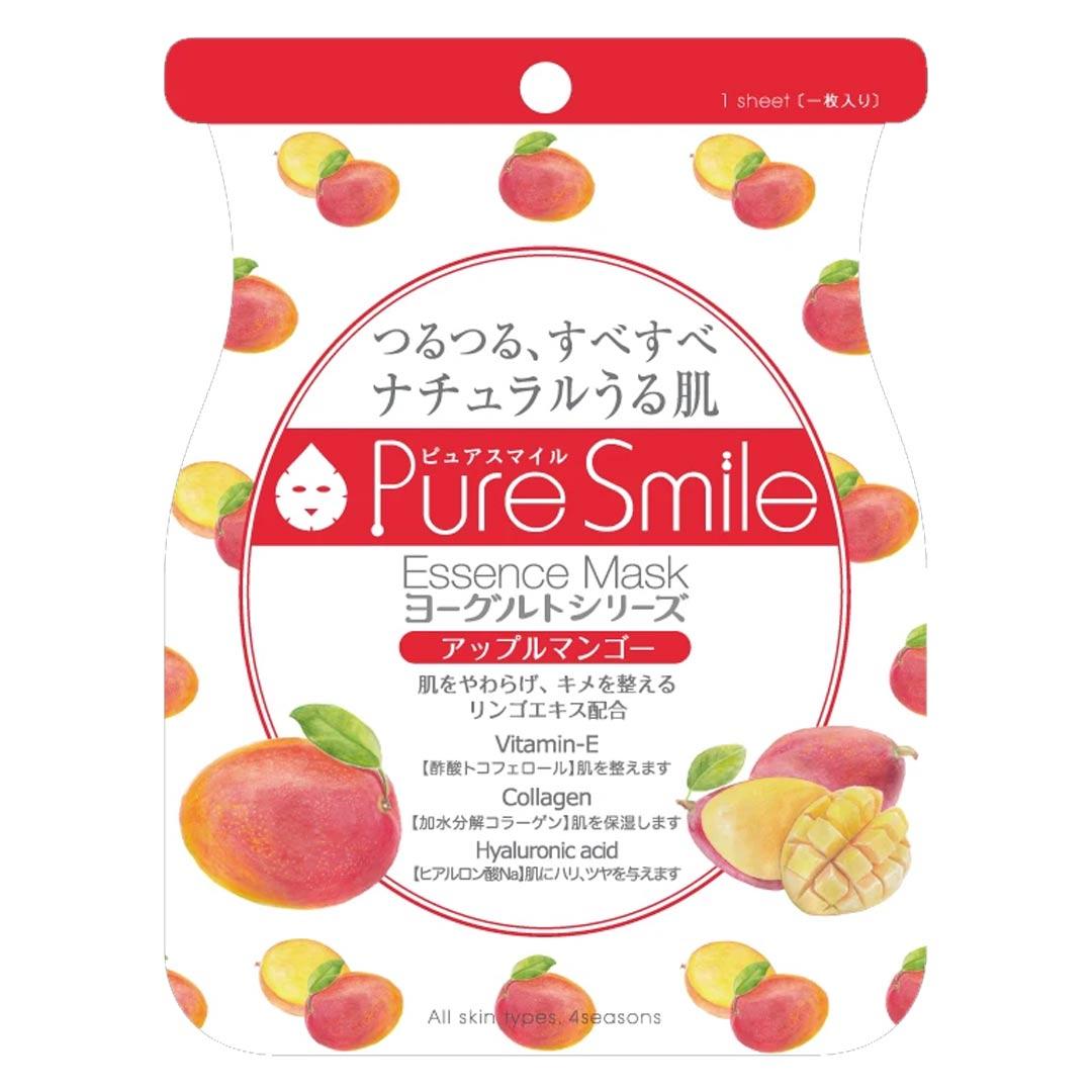 Mặt Nạ Dưỡng Da Chiết Xuất Xoài Táo Pure Smile Essence Mask Yogurt Series Apple Mango 23ml hiện đã có mặt tại Hasaki