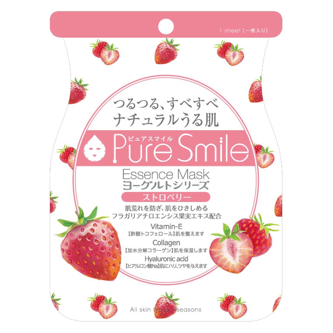 Mặt Nạ Dưỡng Da Chiết Xuất Dâu Tây Pure Smile Essence Mask Yogurt Series Strawberry 23ml hiện đã có mặt tại Hasaki.