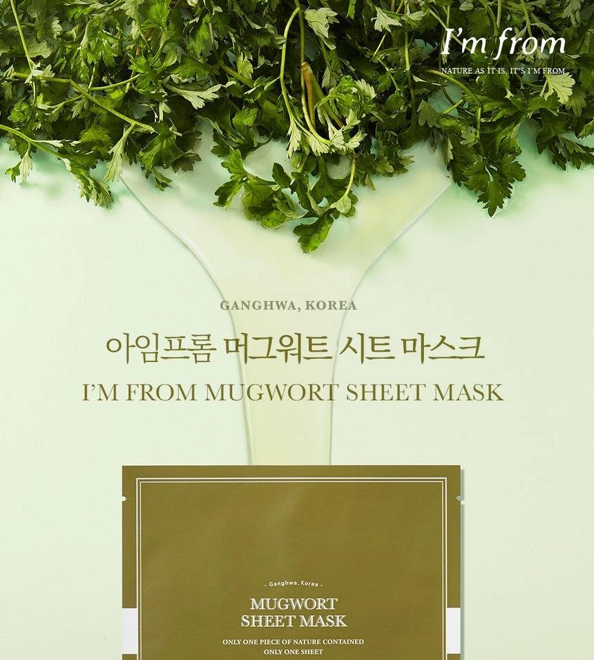 Mặt Nạ Ngải Cứu I'm from Mugwort Sheet Mask