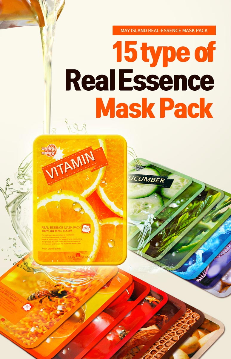 Mặt Nạ Dưỡng Da May Island Real-Essence Mask Pack