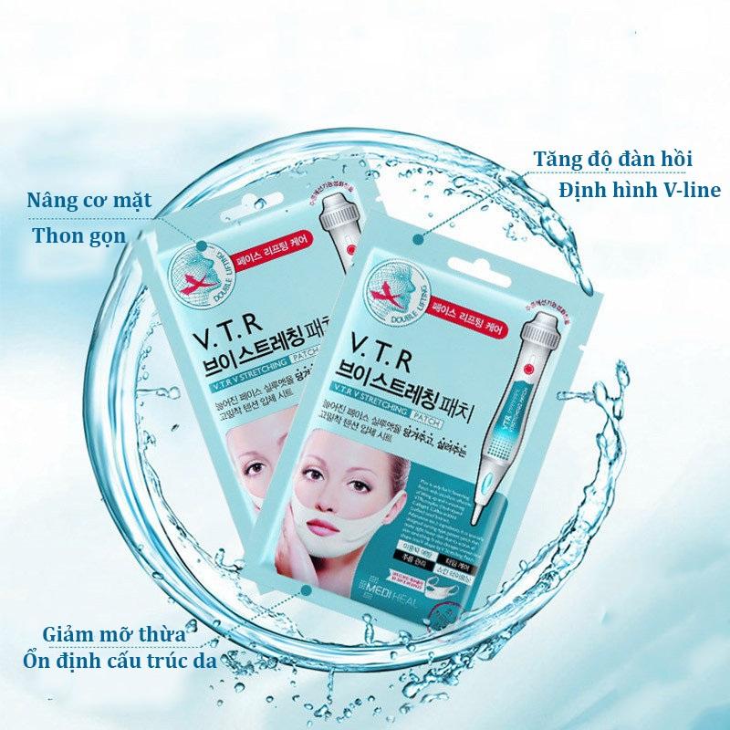 Mặt Nạ Nâng Cơ, Giảm Mỡ Thừa Tạo Hình V-Line Mediheal V.T.R Stretching Patch