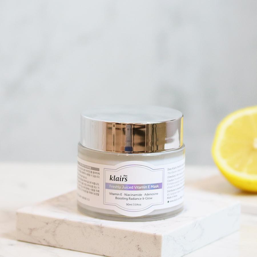 Mặt Nạ Ngủ Dưỡng Da 2 Trong 1 Klairs Freshly Juiced Vitamin E Mask 90ml
