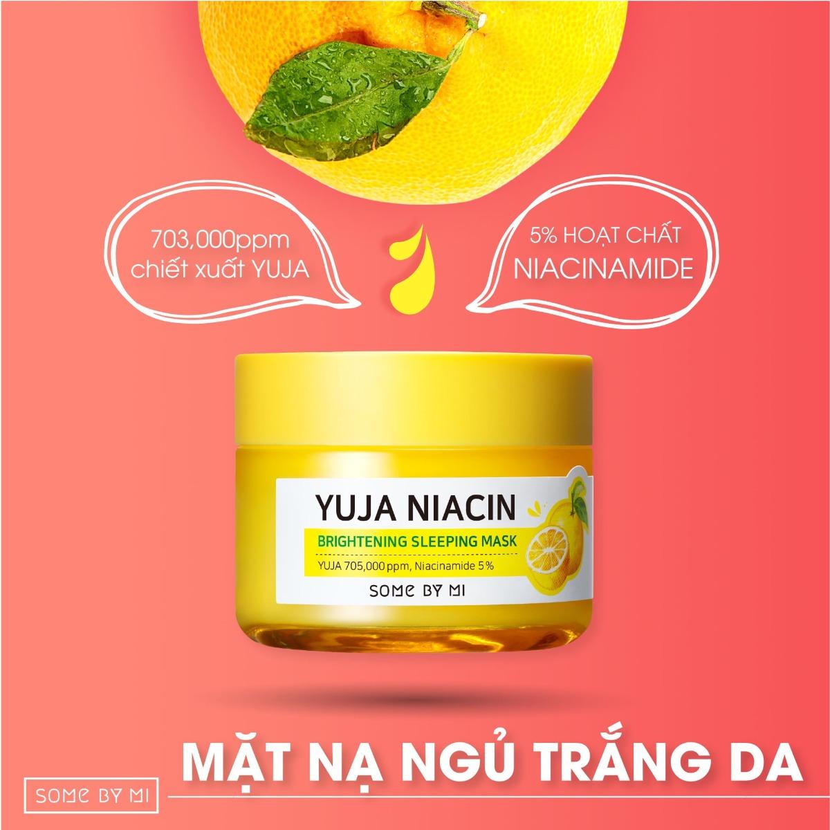 Mặt Nạ Ngủ Dưỡng Sáng Da Some By Mi Chiết Xuất Quả Thanh Yên Yuja Niacin 30 days Miracle Brightening Sleeping Mask