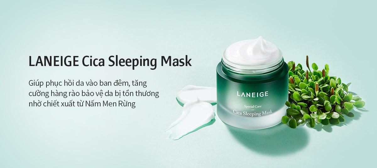 Mặt Nạ Ngủ Giúp Phục Hồi & Tăng Cường Hàng Rào Bảo Vệ Da Laneige Cica Sleeping Mask