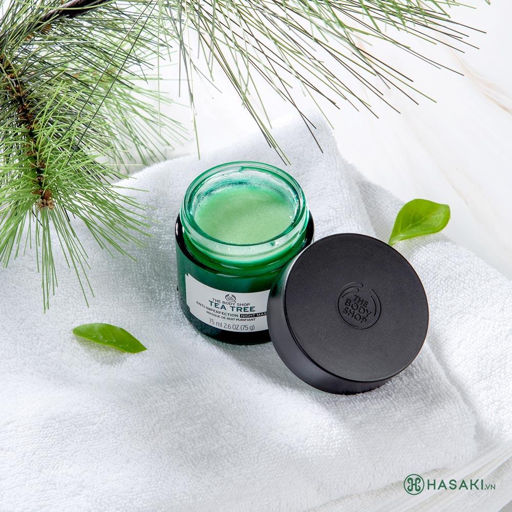 Mặt Nạ Ngủ The Body Shop Tràm Trà Cho Da Dầu Mụn Tea Tree Anti-Imperfection Night Mask 75ml