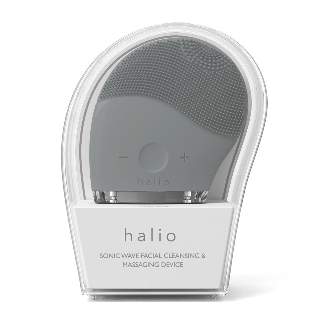 Máy Rửa Mặt Halio Facial Cleansing & Massaging Device Màu Xám