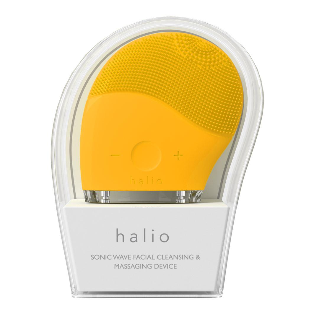 Máy Rửa Mặt Halio Facial Cleansing & Massaging Device Màu Vàng