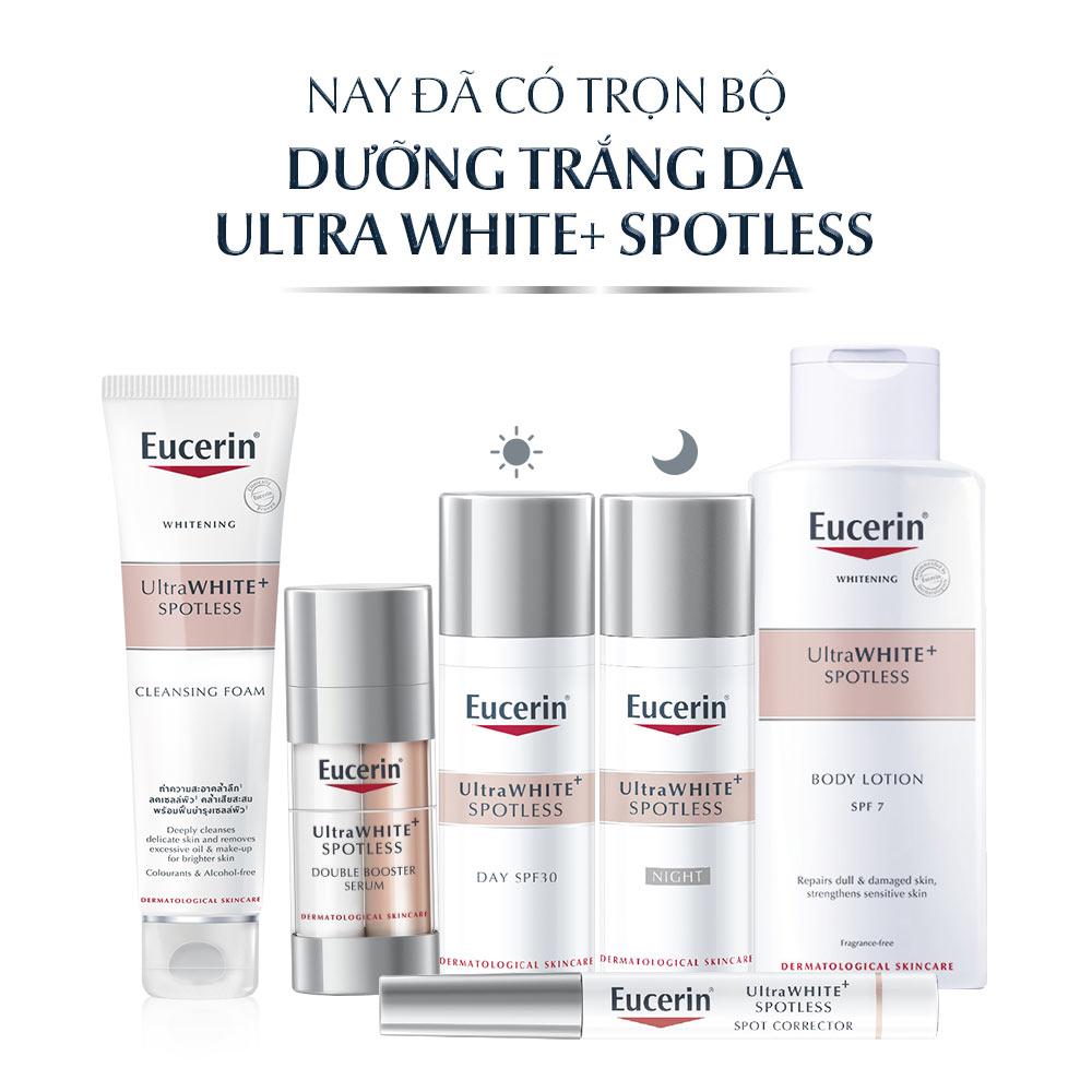 Bộ Sản Phẩm Eucerin UltraWHITE+ SPOTLESS dưỡng sáng da, cải thiện đốm sắc tố.