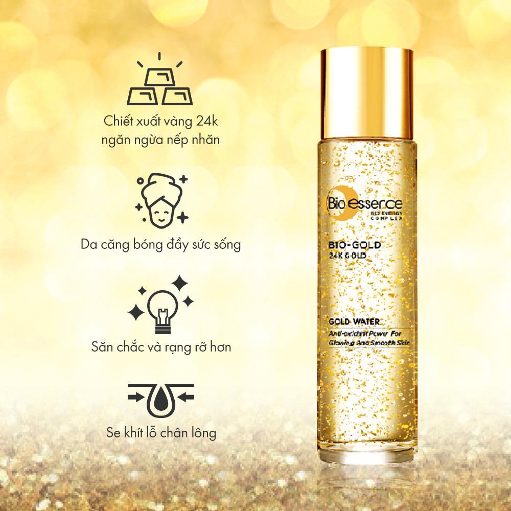 Nước dưỡng Bio-essence 24K Bio Gold Water giúp ngăn ngừa các dấu hiệu lão hóa da