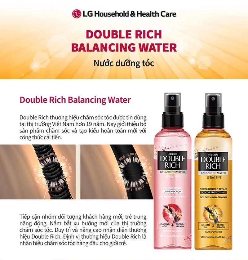 Nước Dưỡng Tóc Double Rich Balancing Water 120ml