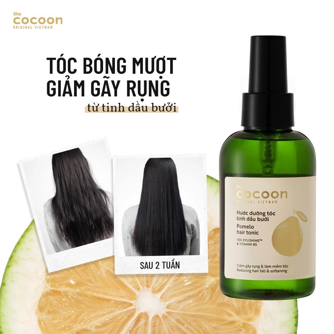 Hiệu quả Nước Dưỡng Tóc Cocoon Tinh Dầu Bưởi Pomelo Hair Tonic 140ml
