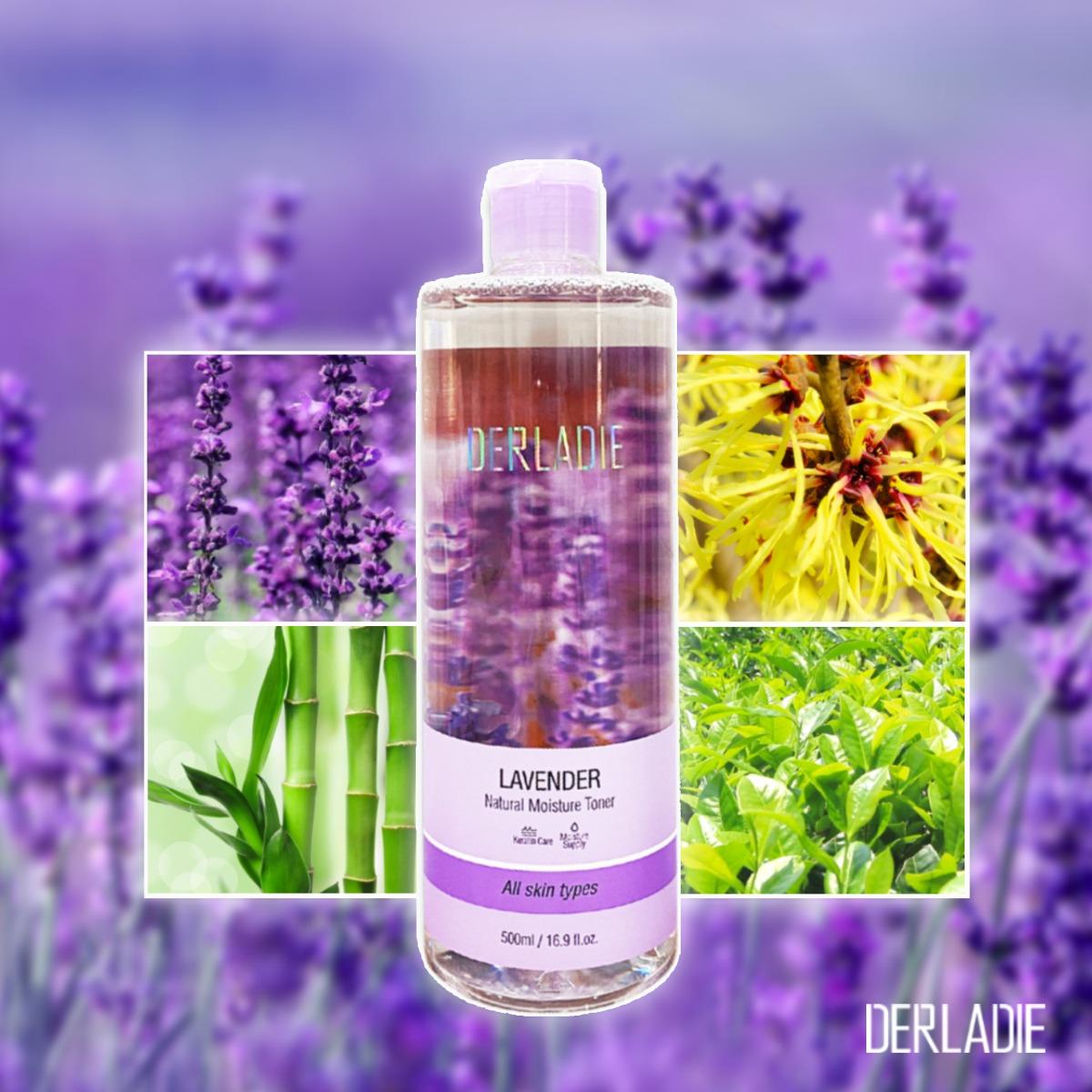 Nước Hoa Hồng Derladie Lavender Natural Moisture Toner được chiết xuất từ các thành phần thiên nhiên an toàn và lành tính cho da