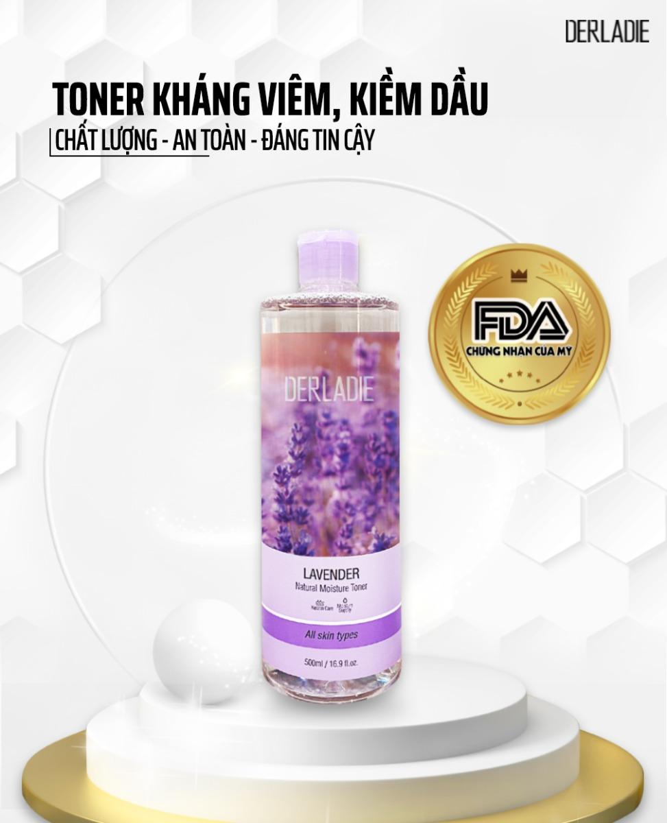 Nước Hoa Hồng Derladie Lavender Natural Moisture Toner 500ml an toàn và chất lượng cho mọi loại da