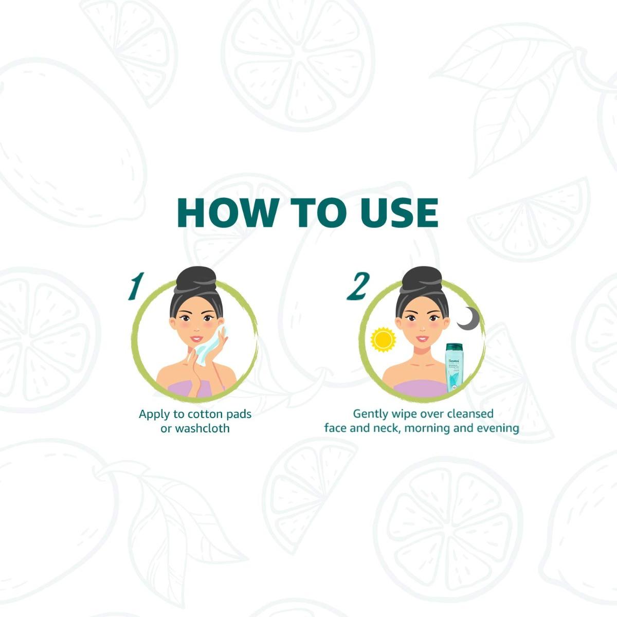 Hướng dẫn sử dụng Nước Hoa Hồng Làm Sạch Dầu Thừa Himalaya Herbals Refreshing & Clarifying Toner 100ml
