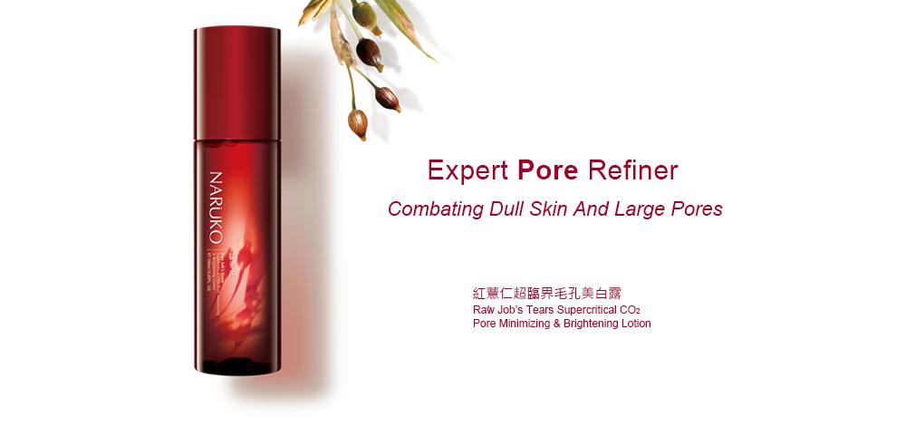 Nước Hoa Hồng Chiết Xuất Ý Dĩ Nhân Đỏ Naruko RJT Supercritical CO2 Pore Minimizing Brightening Lotion 150ml