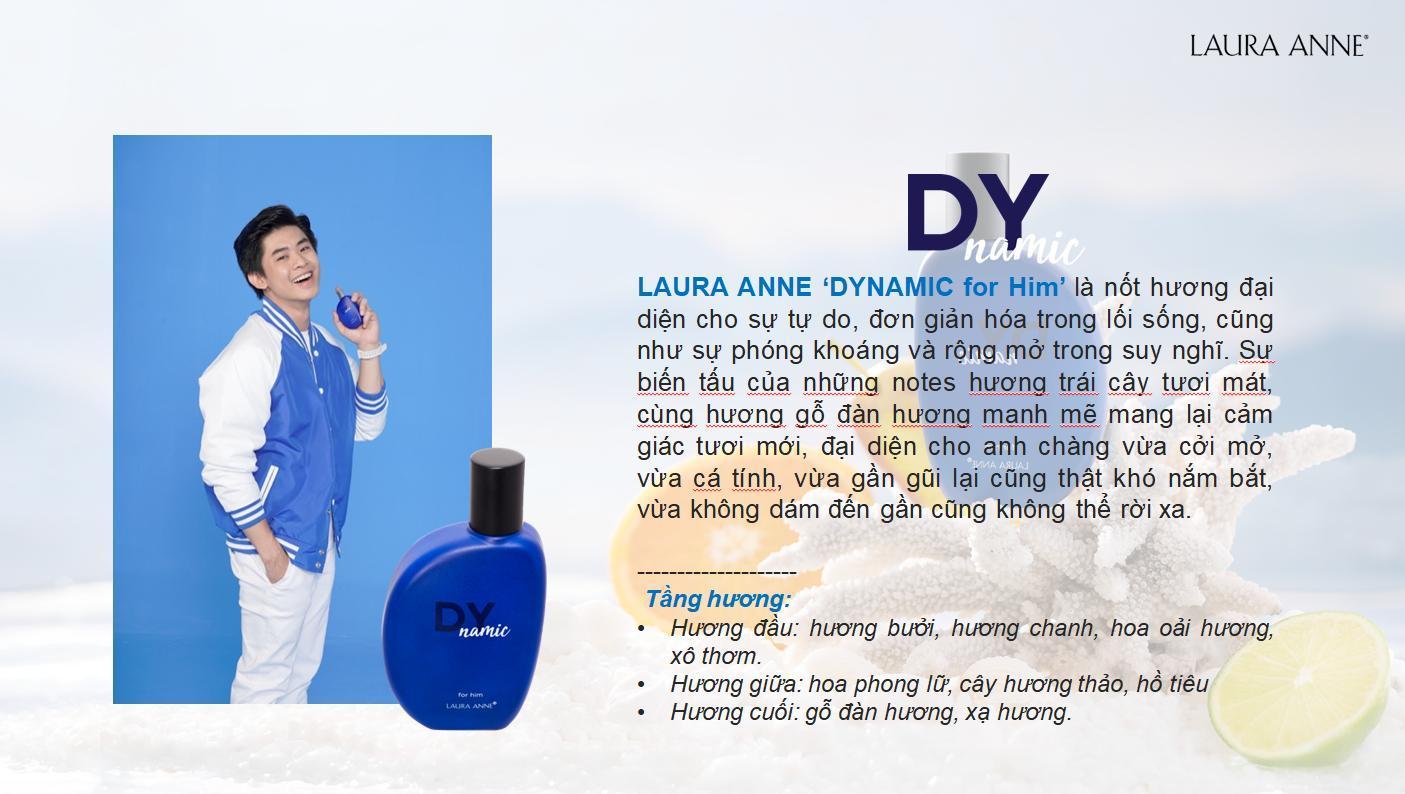 Nước Hoa Nam Laura Anne Dynamic For Him năng động, cá tính