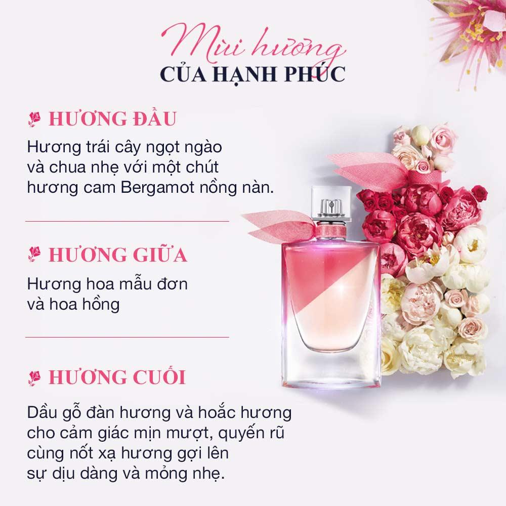 Nước Hoa Nữ Lancôme La Vie Est Belle Enrose EDT 50ml là một mùi hương trái cây - hương hoa ngọt ngào, thanh lịch.