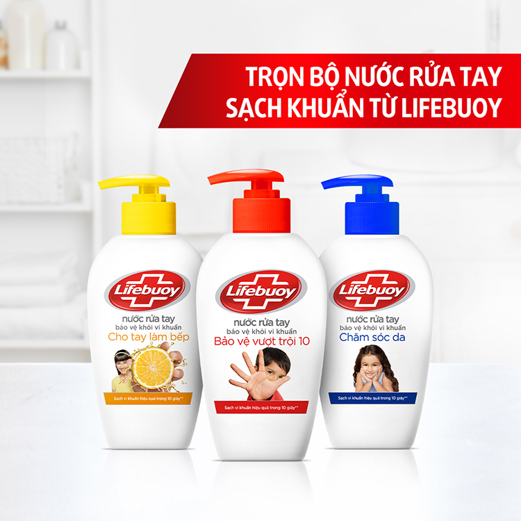 Nước Rửa Tay Lifebuoy Bảo Vệ Da Khỏi Vi Khuẩn