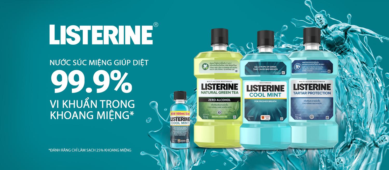 Nước Súc Miệng Tinh Chất Bạc Hà Listerine Cool Mint Mouthwash