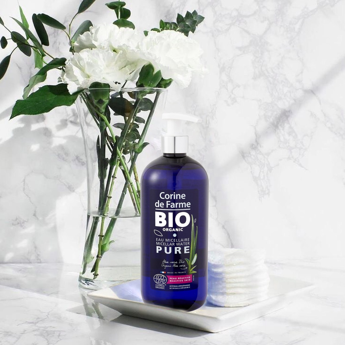 Nước Tẩy Trang Hữu Cơ Cho Da Nhạy Cảm CORINE DE FARME Bio Organic Micellar Water Pure 500ml