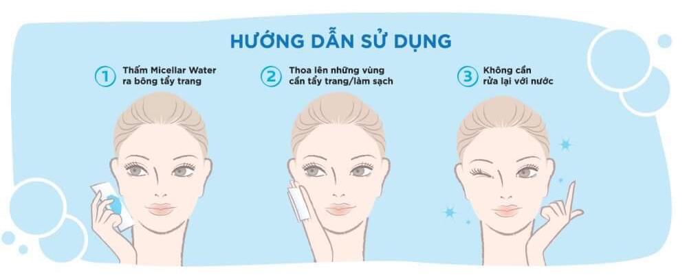 Hướng dẫn sử dụng Nước Tẩy Trang La Roche-Posay Micellar Water Ultra Sensitive Skin