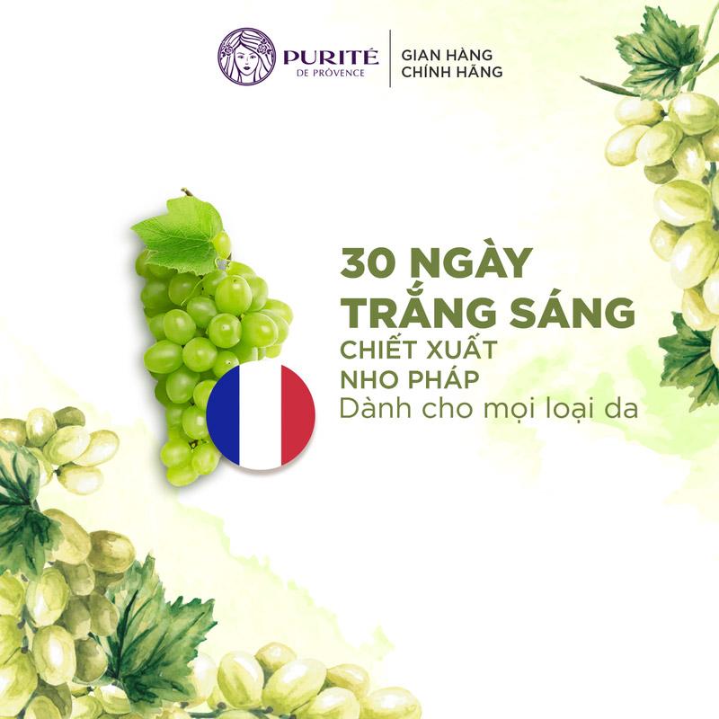 Nước Thần Purité 30-days Natural Brightening Water Essence dưỡng sáng da, mờ thâm nám sau 30 ngày sử dụng.