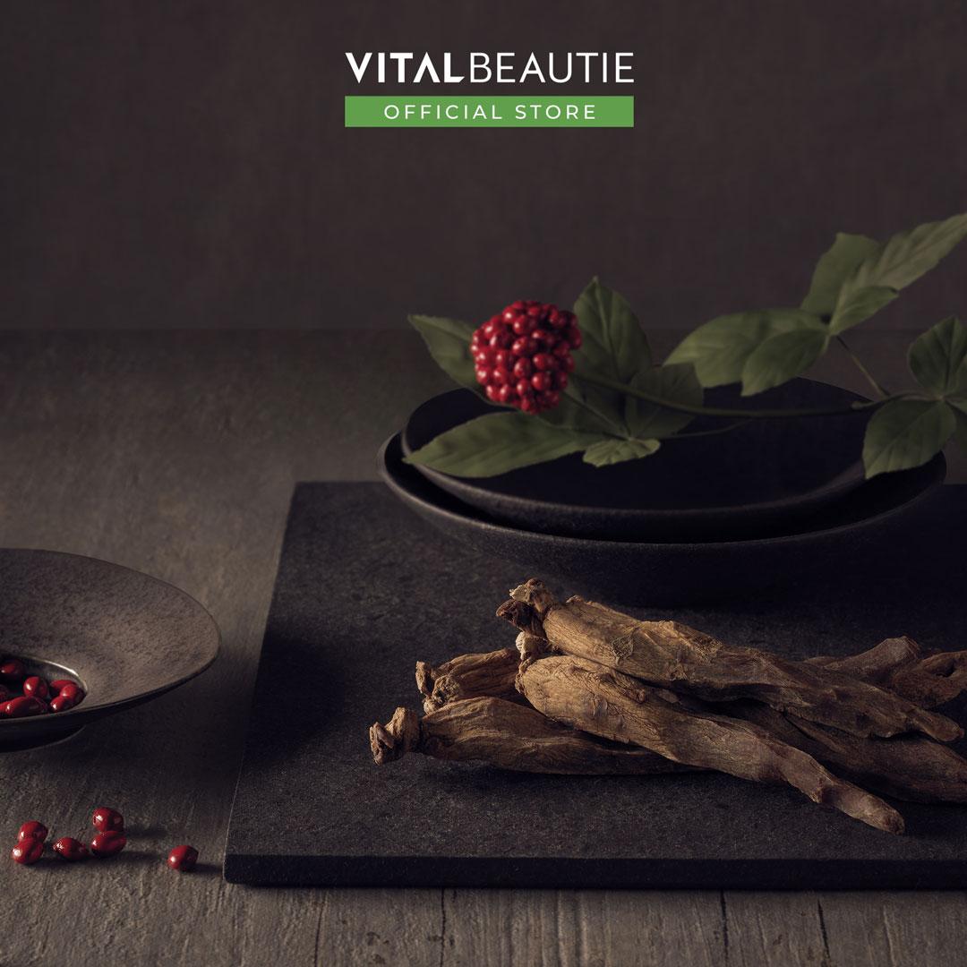 Vital Beautie Ginsengberry And Redginseng Extract Stick có công thức kết hợp hoàn hảo giữa chiết xuất quả Sâm và Hồng Sâm quý giá, giúp bổ sung 38 loại Saponin khác nhau cho cơ thể tràn đầy sức sống và năng lượng.