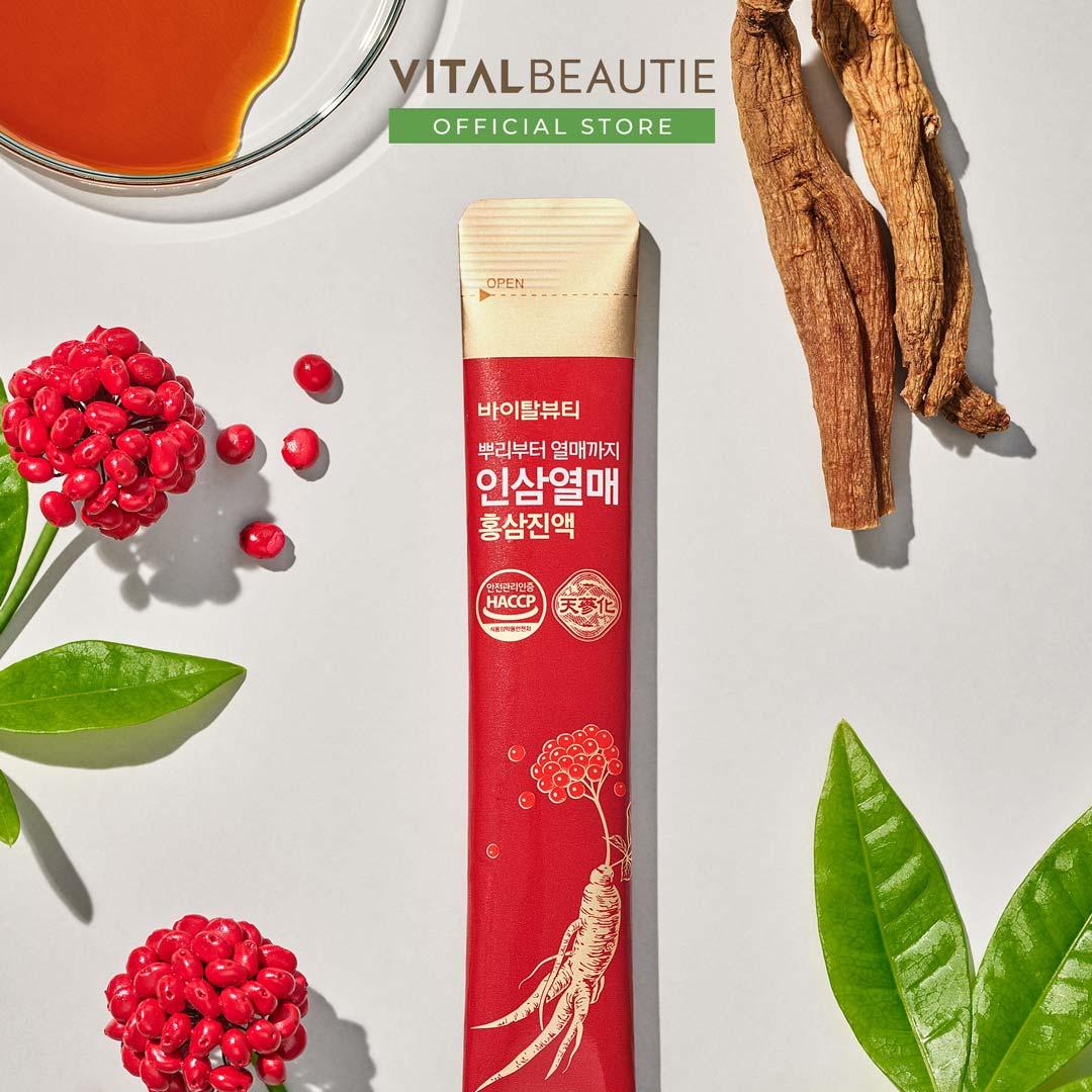 Vital Beautie Ginsengberry And Redginseng Extract Stick - bí quyết tái tạo năng lượng tự nhiên đến từ tinh chất Hồng Sâm và quả Sâm, giúp tăng cường hệ miễn dịch và phục hồi năng lượng tự nhiên cho cả gia đình bạn một cách toàn diện nhất mà không tốn nhiều thời gian.