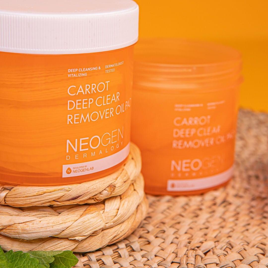Pad Dầu Tẩy Trang Neogen Dermalogy Carrot Deep Clear Oil Pad 150ml (60 Pads) hiện đã có mặt tại Hasaki