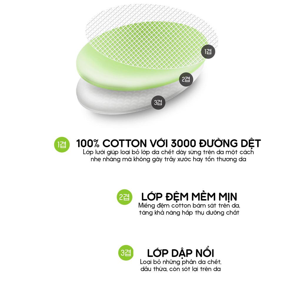Pad Tẩy Da Chết Neogen Dermalogy với thiết kế dạng miếng bông cotton 3 lớp giúp loại bỏ da chết & dầu thừa hiệu quả mà không gây trầy xước hay tổn thương da.