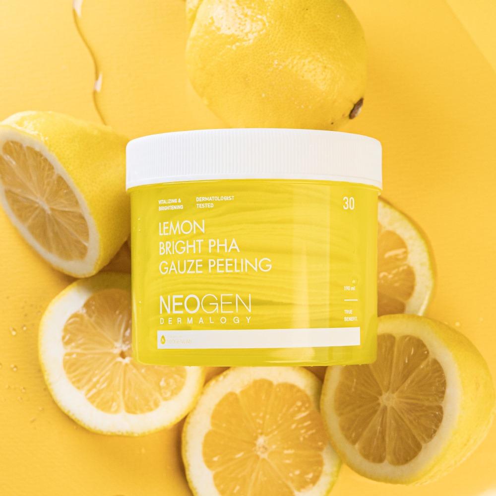 Pad Tẩy Da Chết Chanh Neogen Dermalogy Lemon Bright PHA Gauze Peeling 30 Miếng