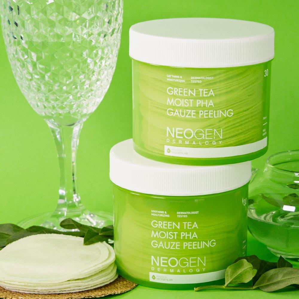 Pad Tẩy Da Chết Trà Xanh Neogen Dermalogy Green Tea Moist PHA Gauze Peeling hiện đã có mặt tại Hasaki