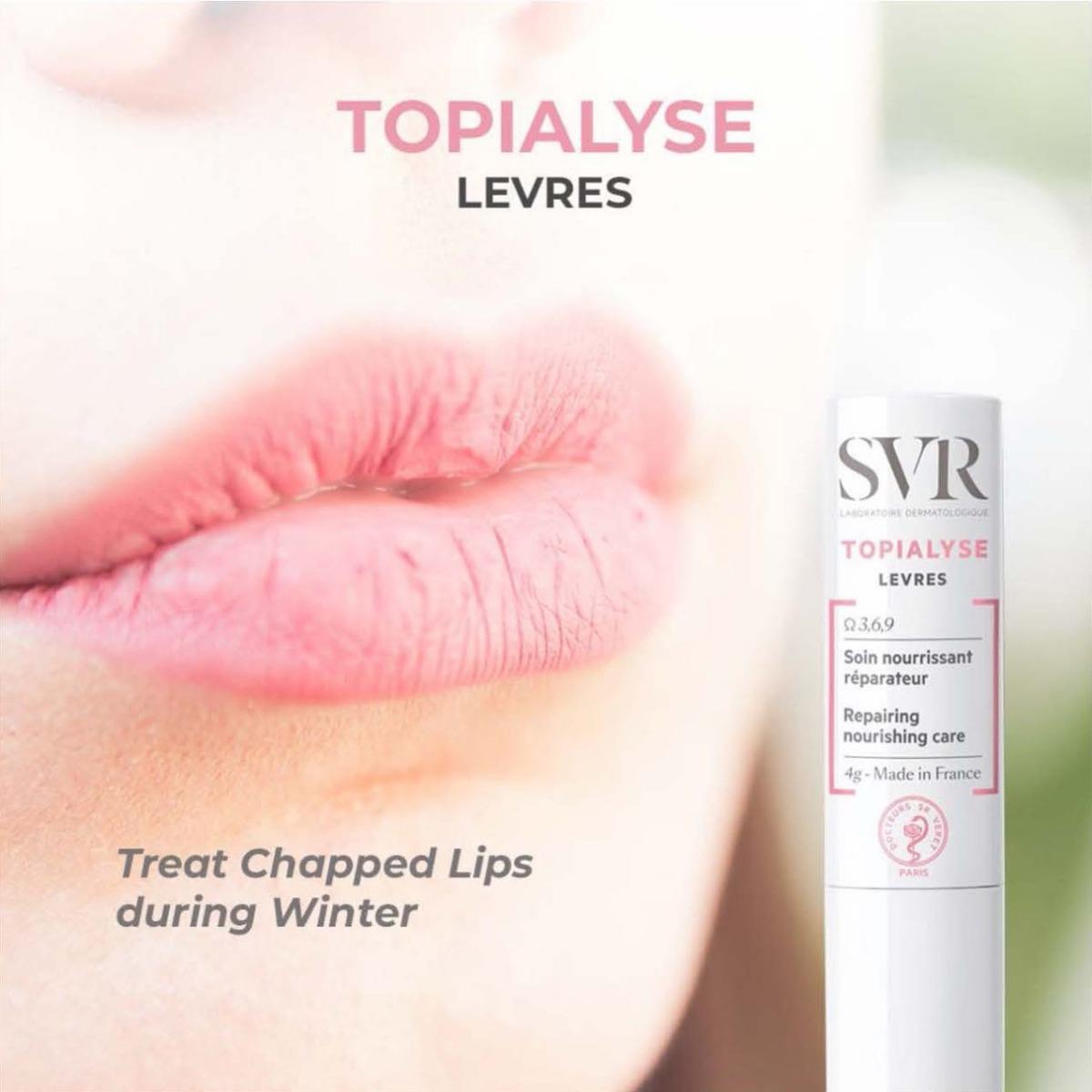 Sáp Dưỡng Ẩm Môi SVR Stick Topialyse Levres giúp làm mềm và làm dịu da môi nhạy cảm tổn thương