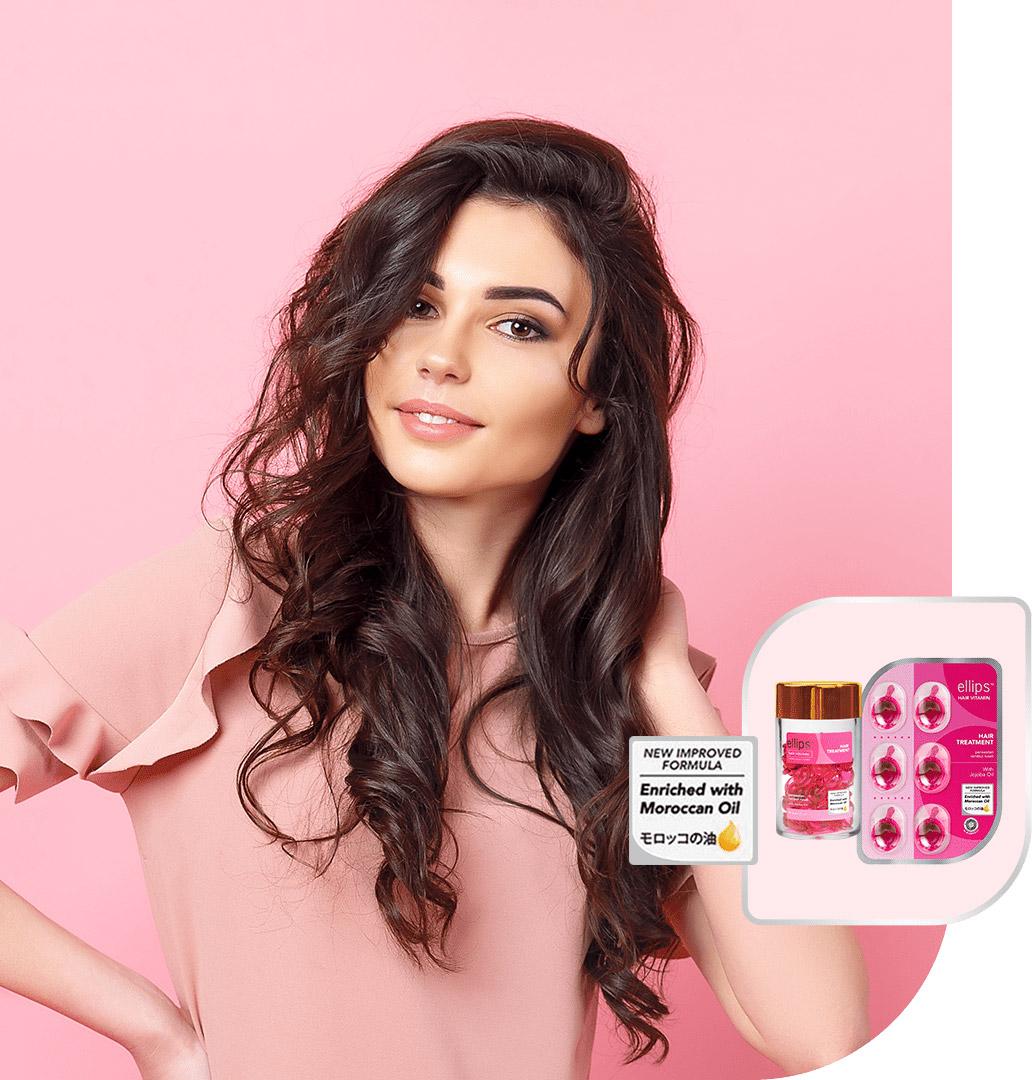 Serum Dưỡng Tóc Ellips Hair Vitamin Moroccan Oil Hair Treatment