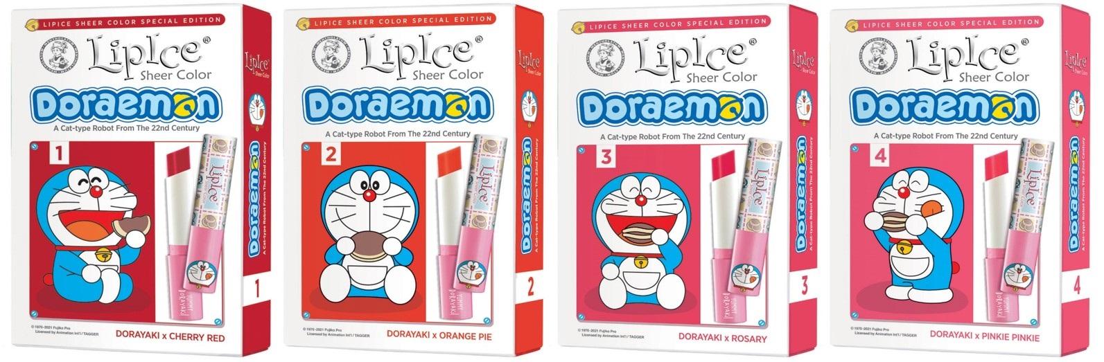 Son Dưỡng Có Màu Doraemon x LipIce Sheer Color hiện đã có mặt tại Hasaki với 4 màu son xinh xắn cho bạn lựa chọn.