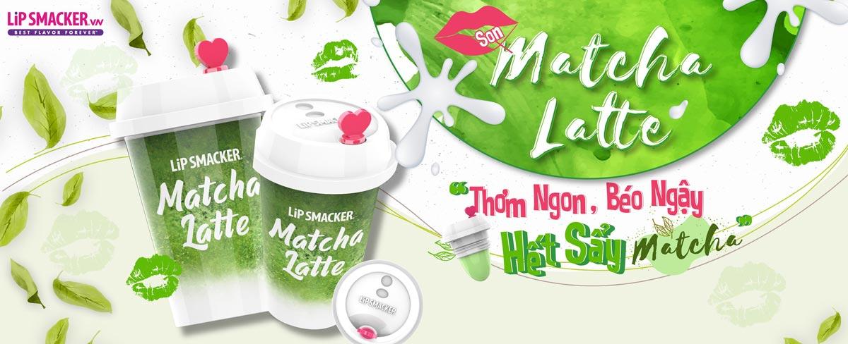 Son Dưỡng Lip Smacker Matcha Latte Lip Balm Hương Trà Xanh Matcha Latte