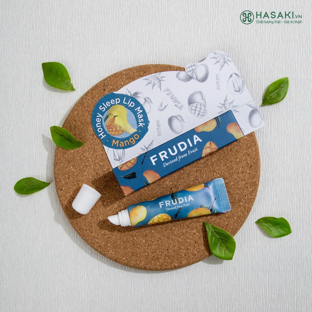 Hiện Mặt Nạ Ngủ Môi Chiết Xuất Mật Ong Xoài FRUDIA Mango Honey Sleep Lip Mask đã có mặt tại Hasaki