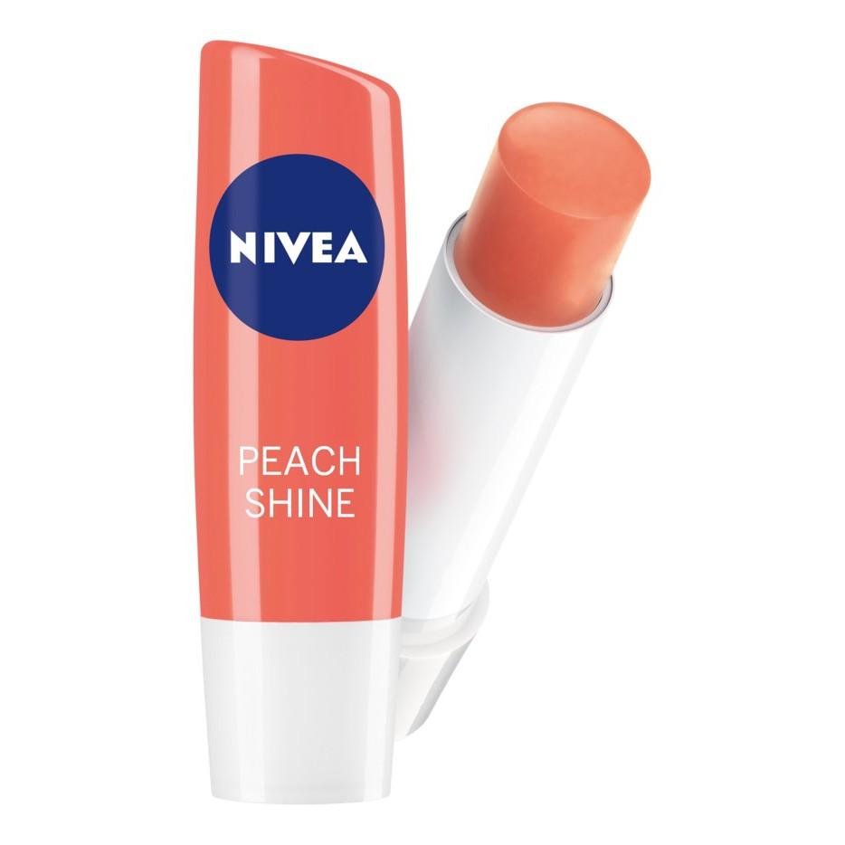 Son Dưỡng Môi Nivea Peach Shine Lip Balm giúp môi ửng sắc đào cam xinh xắn