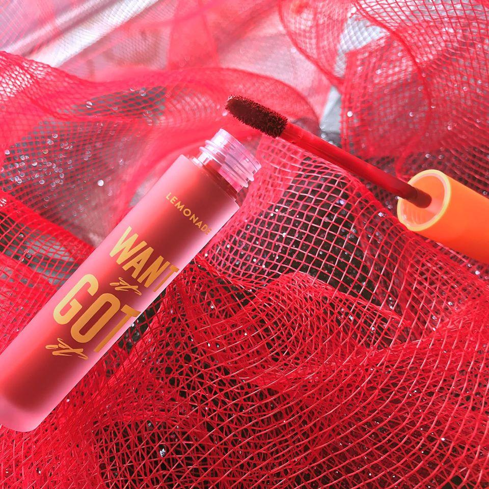 Son Kem Lì Nhẹ Môi LEMONADE Want It Got It Lipcream có thiết kế dễ dàng nhìn thấy màu son bên trong