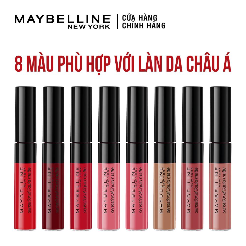 Son Kem Lì Nhẹ Môi Maybelline 03 Flush It Red | Hasaki.vn