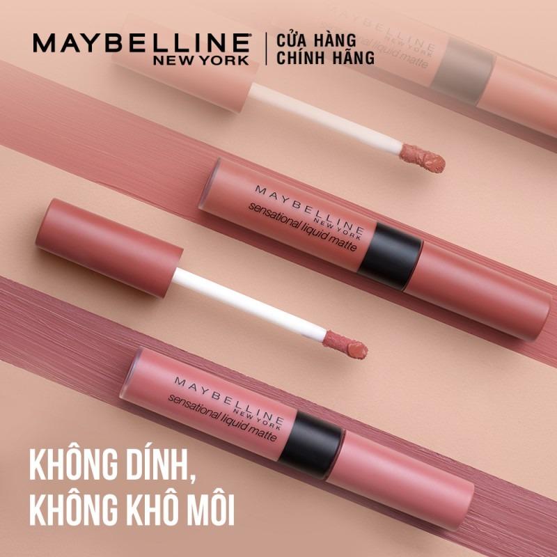 Son Kem Lì Maybelline Sensational Liquid Matte Lipstick giữ ẩm cho môi không khô ráp