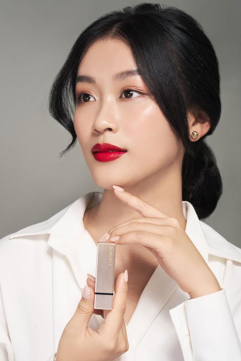 Mua Son Lì Dr.NUELL Matte Lipstick 01 Cherry Red Đỏ Hồng tại Hasaki